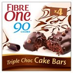 Fibre One 90 Calorie Triple Choc Cake Bars