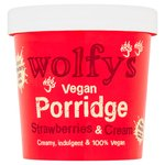 Wolfy's Vegan Strawberries & Cream Porridge