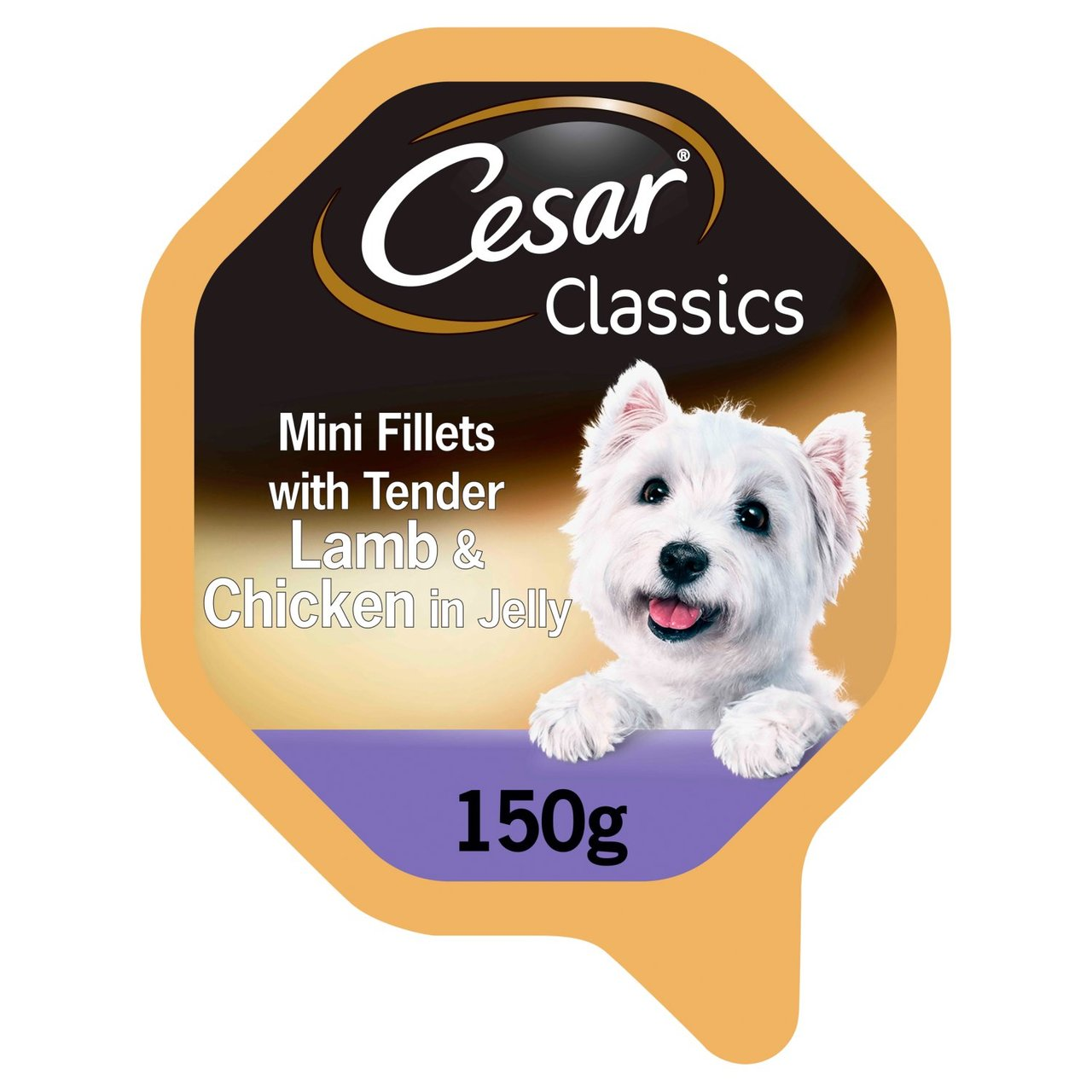 An image of Cesar Classics Tray Lamb & Chicken in Jelly