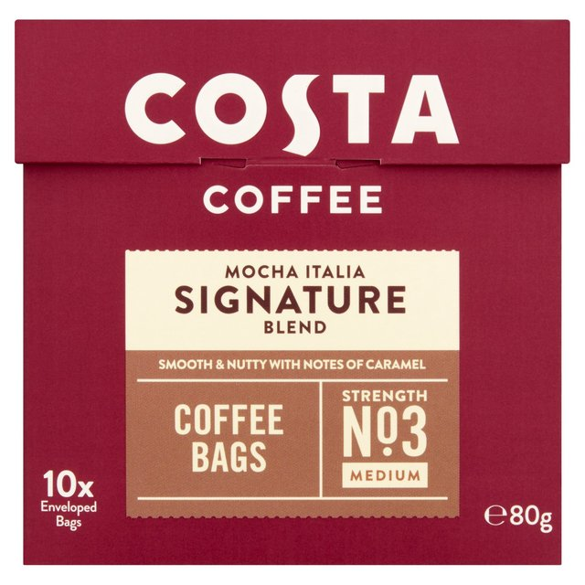 Costa Signature Blend Coffee Bags Ocado