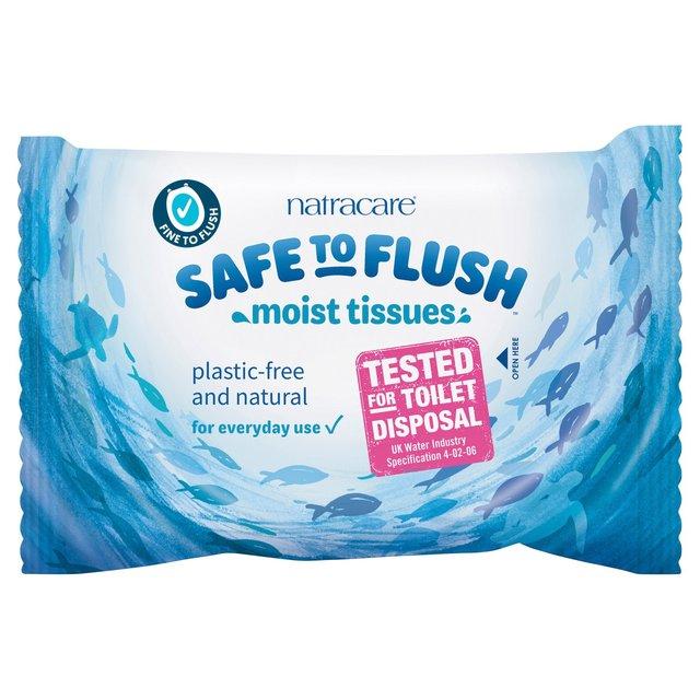 Natracare Safe To Flush Moist Tissues Ocado