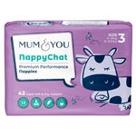 Mum & You Nappychat Smart Tube Nappies Size 3