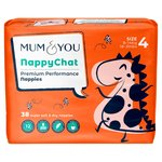 Mum & You Nappychat Smart Tube Nappies Size 4