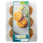 Waitrose 6 Lemon & Herb Salmon Mini Burgers