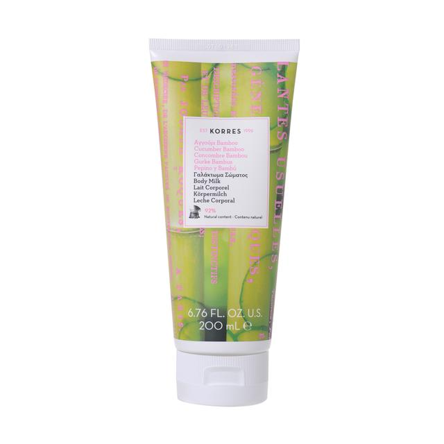 Korres Natural Cucumber Bamboo Body Milk, Vegan
