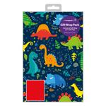 iParty Dinosaur Gift Wrap Sheets 2 per pack