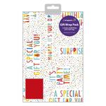 Happy Birthday Gift Wrap Sheets & Tags