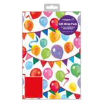 Balloon Fun Gift Wrap Sheets & Tags