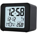 Acctim Cole Radio Controlled Alarm Clock, Black