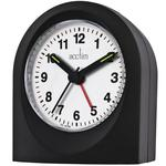 Acctim Palma Travel Alarm Clock, Black