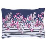Joules Cottage Garden Border Stripe Oxford Pillowcase, Comet