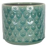 Gisela Graham Ltd, Blue Daisy Ceramic Pot Cover
