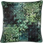 Malini Hudson Pixelated Cushion In Green