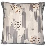 Malini Abstract Print On Linen In Grey