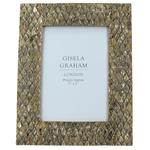 Gisela Graham Ltd Gold Resin Photo Frame, 7 x 5""