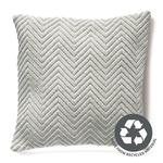 Hug Rug Woven Herringbone Cushion, Sky Grey