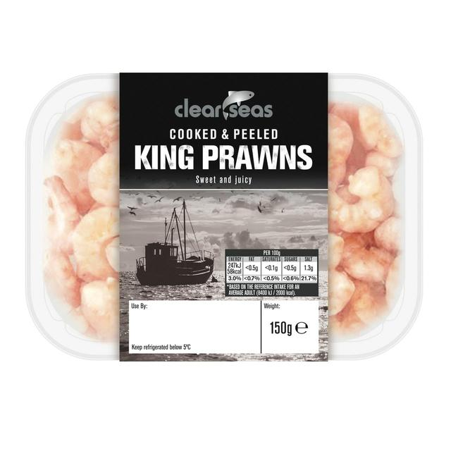 Clear Seas Cooked & Peeled King Prawns