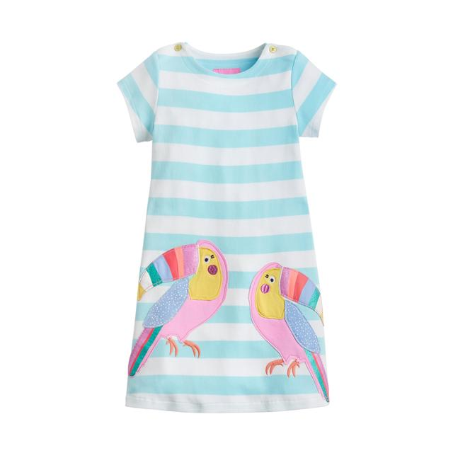 Joules Dress, Aqua Stripe
