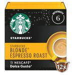 Starbucks Blonde Espresso Roast Coffee Pods by NESCAFE Dolce Gusto