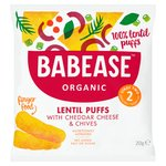 Babease Organic Lentil Puffs with Cheddar Cheese & Chives