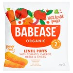 Babease Organic Lentil Puffs with Tomato, Carrot, Herbs & Spices