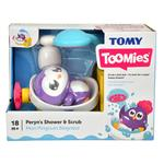 TOMY Toomies Peryn's Shower & Scrub Bath Toy, 18mths+