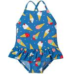 Frugi Organic Blue Ice Cream Swimsuit
