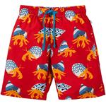 Frugi Organic Red Seashell Swim shorts