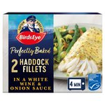 Birds Eye Inspirations 2 Haddock Fillets In a White Wine Sauce Frozen