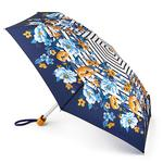 Joules Tiny 2 Botanical Bouquet Border Stripe Umbrella