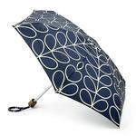 Orla Kiely Tiny 2 Linear Leaf Navy Umbrella