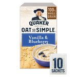 Quaker Oat So Simple Vanilla Bean & Blueberry