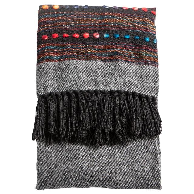 Gallery Direct Nador Hand Embellished Throw, Black
