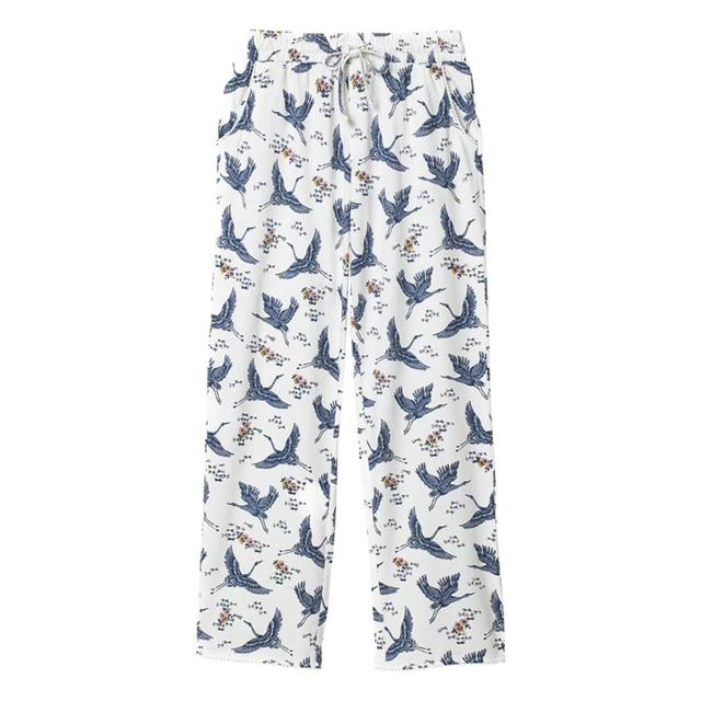 FatFace Cranes Jersey Classic Pants, Ivory