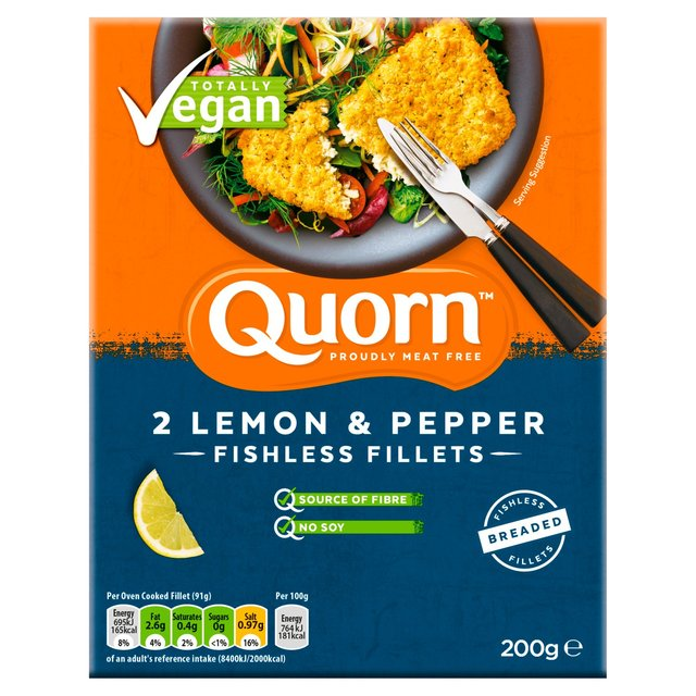 Quorn Fishless Fillets Lemon and Pepper