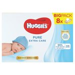 HUGGIES Pure Extra Care Baby Wipes 8 x 56 per pack