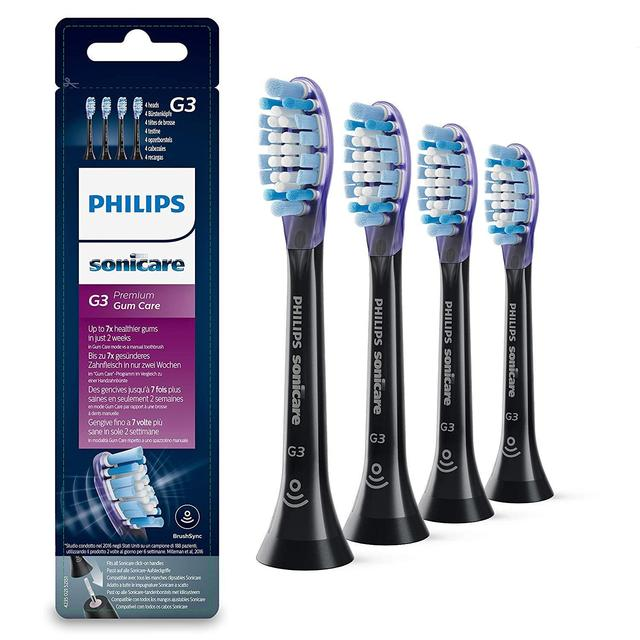 Philips Sonicare Premium Gum Care Toothbrush Heads, Black