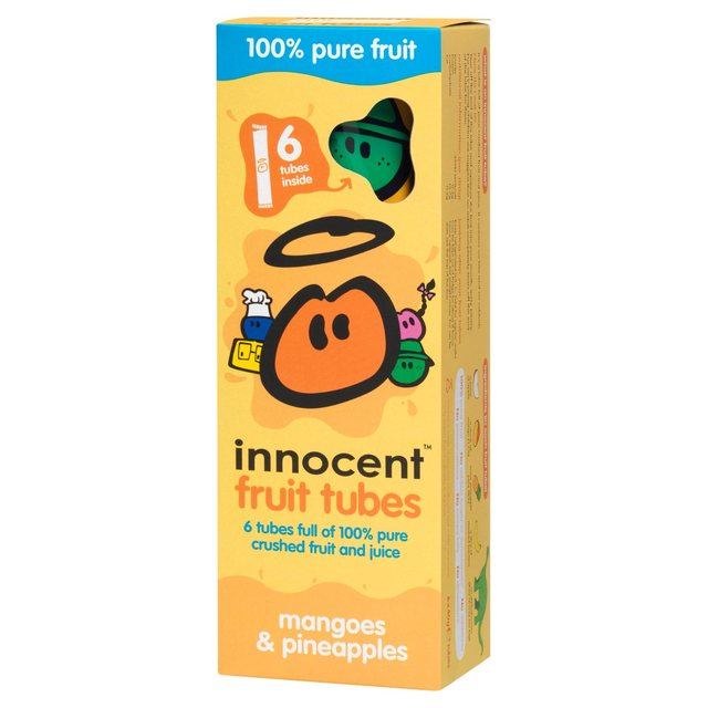 Innocent Kids Mango & Pineapple 6 Fruit Tubes