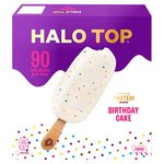 Halo Top Birthday Cake Low Calorie Sticks