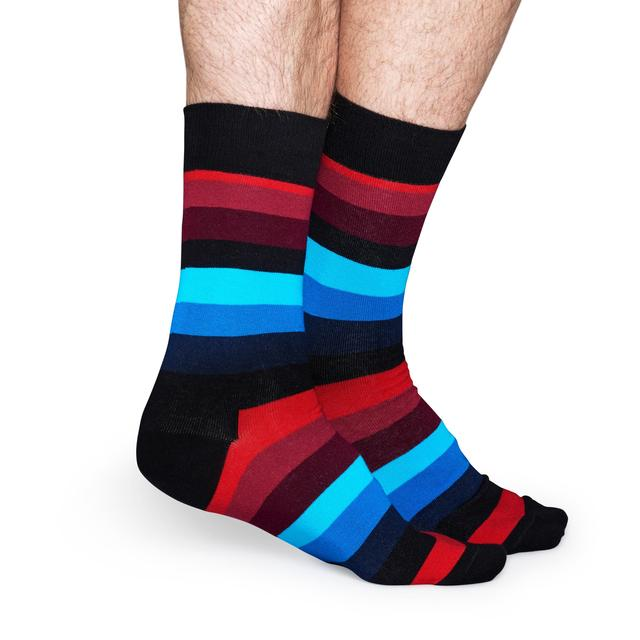 Happy Socks Mens Multi Stripe Socks, Size 7.5 - 11.5