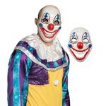 Scary Clown PVC Face Mask With Movable Jaw