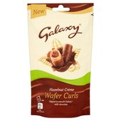 Galaxy Wafer Curls Hazelnut Creme Bag