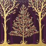 Golden Trees Christmas Charity Card Pack