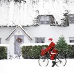 Santa Cycling Christmas Charity Card Pack