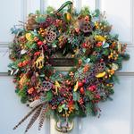 Wreath On Door Christmas Charity Card Pack