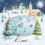 Winter Scene With Church Christmas Charity Card Pack
