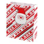 Santa With Giant Tag Gift Bag, Medium