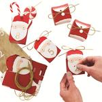 Ginger Ray Santa Advent Boxes With Gold Stickers