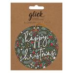 Charcoal Happy Christmas Gift Tag Pack