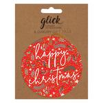 Red Happy Christmas Holly Gift Tag Pack